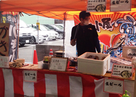 神戸の商店街でイベント
